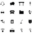 media and communication icon set vector image vector image