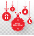 merry christmas balls on transparent background vector image vector image
