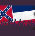 mississippi state flag with audience vector image vector image
