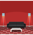 Modern Living Room - Red vector image
