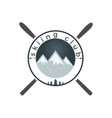 mounting skiing logo design vector image vector image