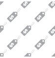 New Dollar tag seamless pattern vector image vector image