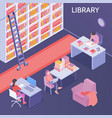 online library isometric composition vector image vector image