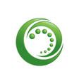 organic circle green crescent symbol design vector image vector image
