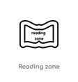 outline reading zone icon isolated black simple vector image vector image