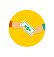 payment icon in flat style vector image vector image