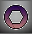 photo sign violet gradient vector image