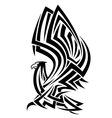 Powerful eagle in tribal style
