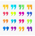 quotes or citation comma sign color gradient flat vector image