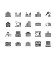 real estate flat glyph icons set house sale vector image vector image