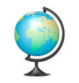 realistic 3d globe planet earth with map vector image