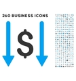 Receive Money Icon with Flat Set vector image vector image