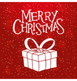 red christmas card with christmas gift vector image