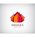roof logos house building real estate vector image vector image