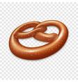 salt pretzel icon realistic style vector image vector image