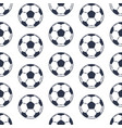 seamless pattern isolated on white football balls vector image