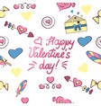 seamless pattern of valentine s day elements vector image