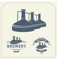 Set - beer brewery elements icons logos vector image vector image