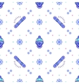 Snowboard pattern winter sport seamless design vector image