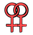 two female gender symbols icon icon cartoon vector image