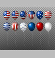 usa balloon design of american flag on vector image