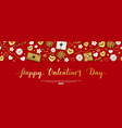 valentines day composition with top view hearts vector image vector image