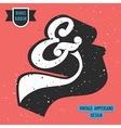 Vintage Ampersand symbol with retro effect texture vector image