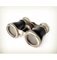 Vintage binoculars vector image vector image