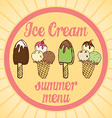 Vintage Ice Cream Poster Set of tasty ice cream vector image