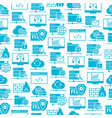 web hosting icons seamless pattern vector image vector image