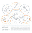 website banner and landing page medical vector image