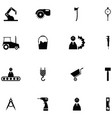 worker tool icon set vector image