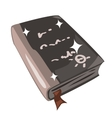 Ancient magic spell book Icon in cartoon style vector image