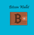 mobile bitcoin payment design vector image