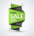 super sale banner special offer concept vector image