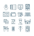 Web Design Linear Icons vector image