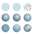 abstract blue balls vector image vector image