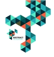 Abstract mosaic geometric shapes isolated vector image