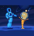 alien human cartoon composition vector image