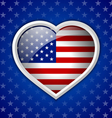 American heart badge vector image vector image