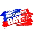 American Independence Day lettering design A vector image vector image