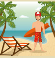 beach vacation design vector image vector image