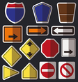 Blank road signs vector image