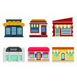 buildings and facades shops and bank vector image vector image