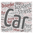 Car Accident Article Car Accidents Post Traumatic vector image vector image