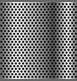 chrome grid metal background vector image