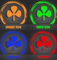 Clover icon Fashionable modern style In the orange vector image
