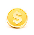 coins dollar gold sign on white background vector image