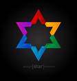 Colorful Star abstract design element vector image