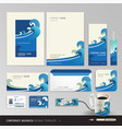 Corporate identity business set design Abstract ba vector image vector image